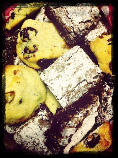 Brownies Y Galletas De Chispas Con Arndanos Y Nuez!!!