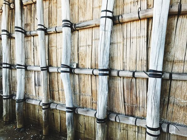 EyeEm Selects Bamboo Wood - Material Outdoors Backdrop Bamboo Background Wooden Wall Nature No People Close-up Old Bamboo Fence