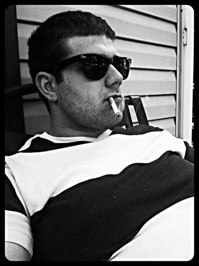 Wayfarers Blackandwhite Cigarettes Vneck