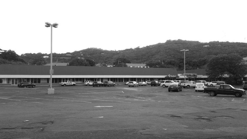 Parking Lot Shopping Center Monochrome No Edit/no Filter St.Croix, US Virgin Islands