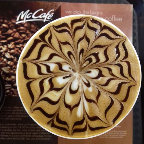 Better latte than never. Morning! EyeEm Selects Latte Hazelnut McCafe Breakfast Kickstart Closeup Art Creative Coffee