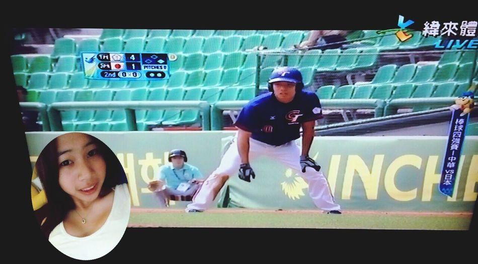發文瞬間嚴文擊出三分砲哈哈哈二局上7:1領先日本 Enjoying Life Baseball 仁川亞運 中華vs日本 開心哈哈哈哈哈哈