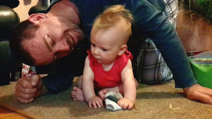 Modern Father Play With Baby Hanging Out Hello World Magic Happens Daddy Daddys Princess Enjoying Life Playing Open Edit