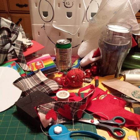 The elf workshop is in over drive! Lol Crafts Homemade XmasPRESENTS