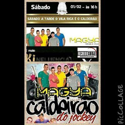 Hoje tem MaGya no Vila Rica no palco as 21 horas e na sequência no Canter Jockey Club Vemtodomundooo