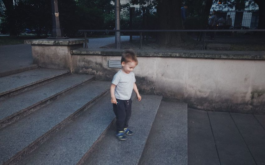 Stairs EyeEm Selects Child Childhood One Person Real People Boys Full Length Innocence