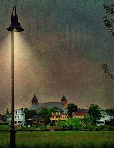 NIGHT FALLS ON THE LITTLE TOWN