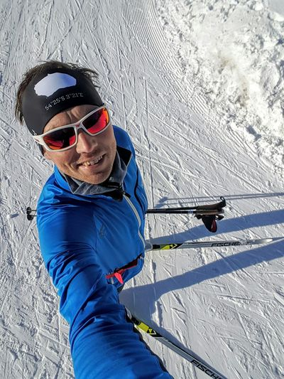 Ready, set, ski. Sunglasses One Person Snow Winter Skiing Looking At Camera Ski Holiday People Adult Leisure Activity Sport Portrait One Man Only Day Cold Temperature Adventure Vitality Cross Country Winter Wintertime Sun