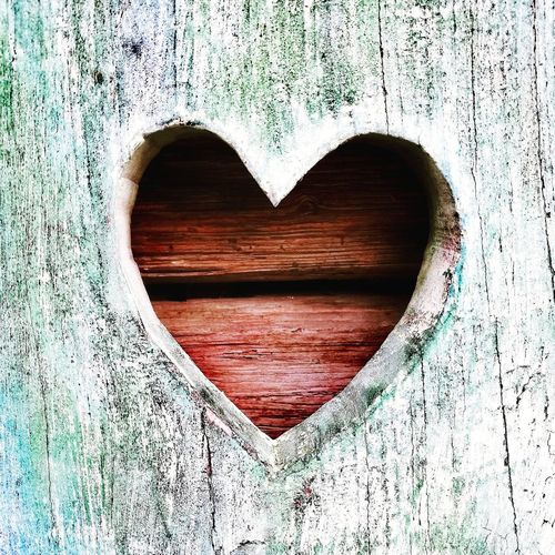 Herz Live Love Lovely Liebe Herz Holz Canonphotography Canon Canoneos Canoneos1300D Huaweiphotography Snapshots of Life World Love Wood - Material Heart Shape Paint Close-up Hole Full Frame Geometric Shape