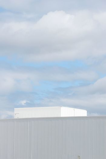 Cloud - Sky Sky Outdoors Day Business Finance And Industry Roof Tranquility Architecture No People Warehouse Whitewashed Built Structure Clouds Clouds And Sky Boxes Metal Syracuse Ny