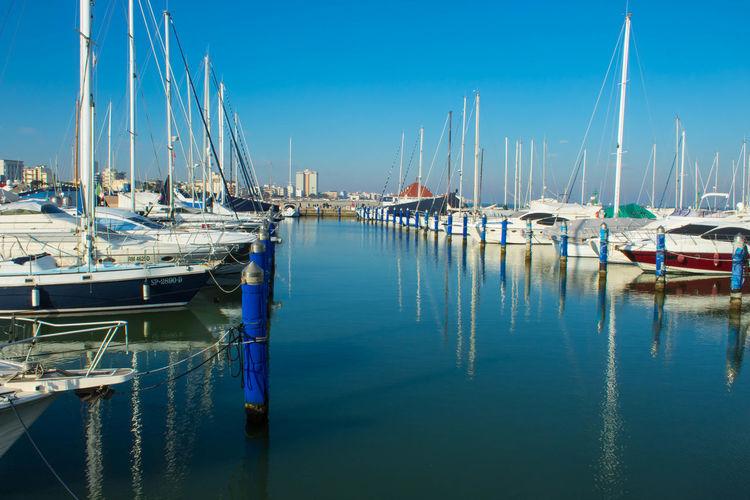 Sailing Ship Water Nautical Vessel Mast Harbor Sea Moored Sailboat Yacht Blue