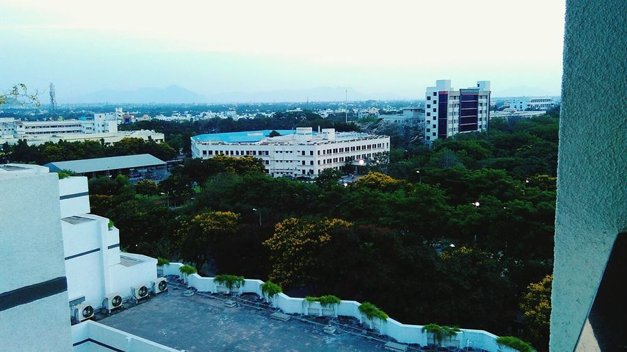 Vellore Technology Tower Sunset Terrace Flowers Peace Serene Holiday Sunday Evening My Commute
