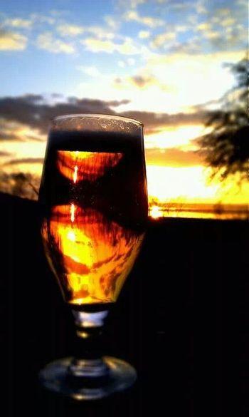 Beer Relaxing Sunset Art