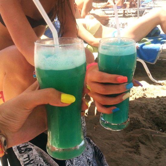 Me And My Friend Kavos Beach Coconut Coctails TBT