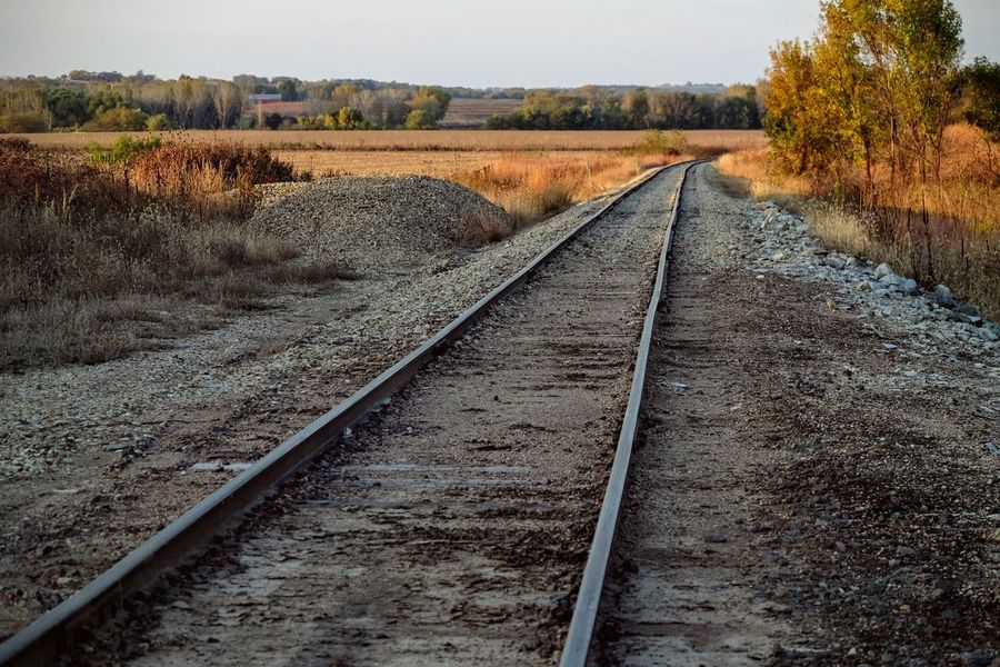 Photo essay - Marysville, Kansas October 15, 2016 A Day In The Life America Autumn Camera Work Clear Sky Color Photography Diminishing Perspective Eye4photography  EyeEm Gallery Fall Collection Horizon Over Land Kansas MidWest Non-urban Scene October Photo Diary Photo Essay Photography Railroad Track Remote Rural Scene Scenics The Way Forward Vanishing Point Visual Journal