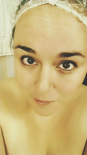 Fresh Face Eyes Shower Cap Just Out The Shower Eyes For Days Black And White Self Portrait Boudoir Sexyeyes