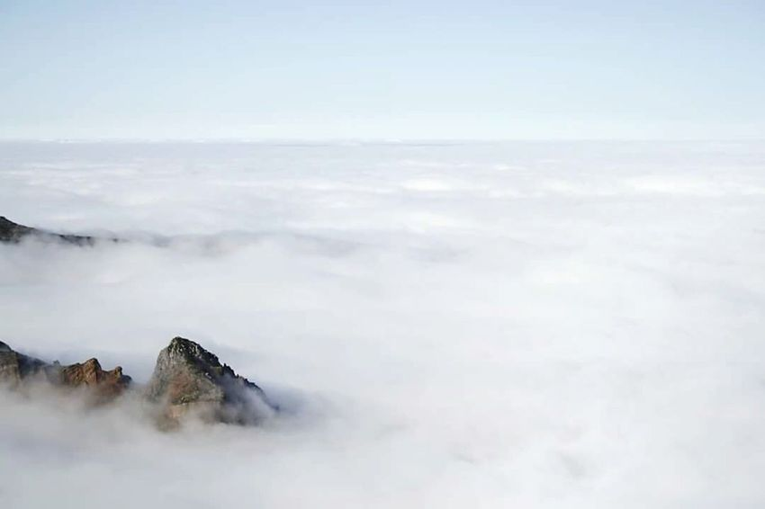 Perspectives On Nature Over The Clouds Climbing A Mountain White Lost In The Landscape Madeira Islands, Portugal Been There.