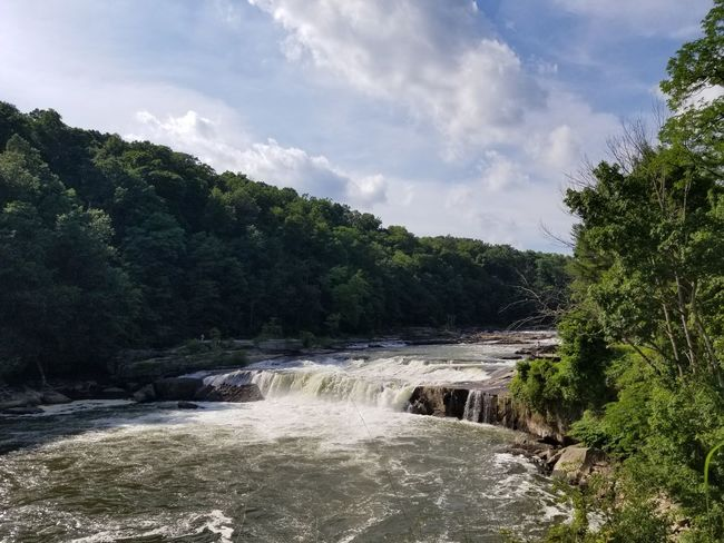 Outside Pennsylvania Nature Spring Springtime Ohiopyle Youghiogheny River Rapids Beauty In Nature Beautiful Nature River Tree Water Forest Sky Landscape Cloud - Sky Flowing Flowing Water Power In Nature Crashing Force Rushing Waterfall The Great Outdoors - 2018 EyeEm Awards