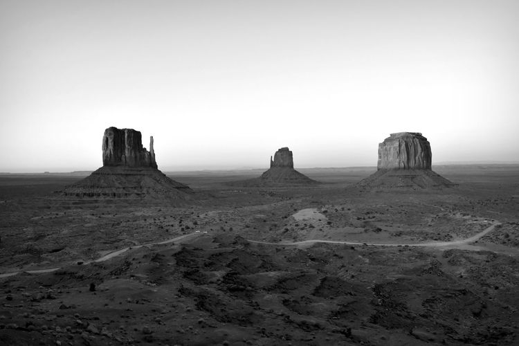 Beauty In Nature Black And White Geology Mitten Butte Monument Valley Nature Navajo Nation Rock Formation Travel Destinations