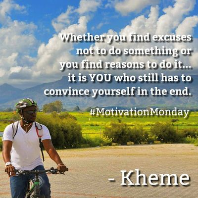 Whether you find Excuses not to do something or you find Reasons to do it... it is YOU who still has to Convince yourself in the end Motivationmonday Goodmorning Motivation