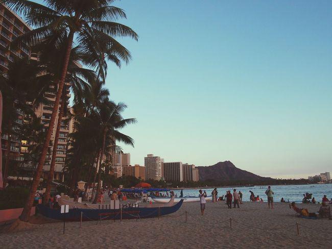 Hawaii Waikiki Beach Diamondhead