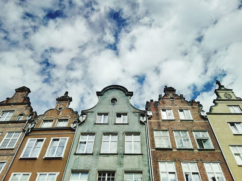Somewhere in Gdańsk, Poland.... Architecture Building Exterior Sky Built Structure No People Cloud - Sky History Travel Destinations Politics And Government City Outdoors Day Eyemmarket Kubananana Eyemmarkets Stock HD