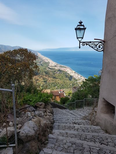 stairs Forza D'agrò Sicily Sicilia Italy Calabria Sea Landscape Outdoors No People Day Horizon Over Water Water Sky Town Travel Travel Destinations Tourism Iconic TOWNSCAPE Panorama Iconic Buildings Europe Architecture Urban Skyline