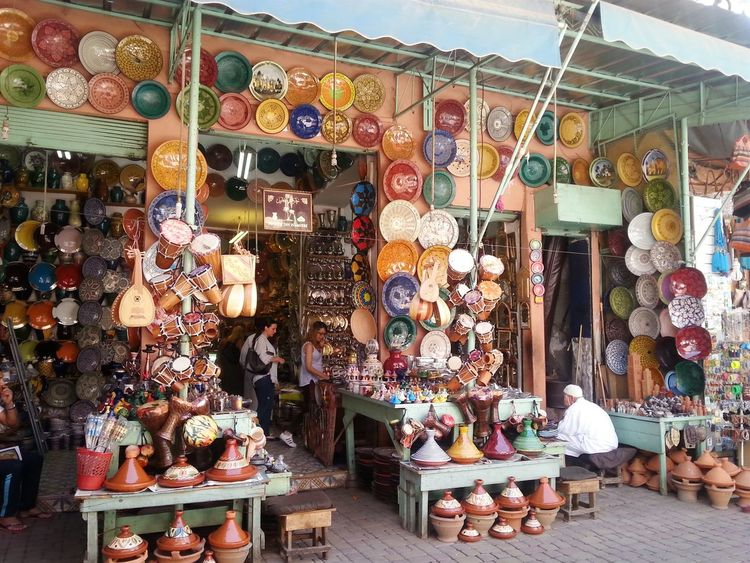 Zoco Marrakech Morocco Pottery Souk