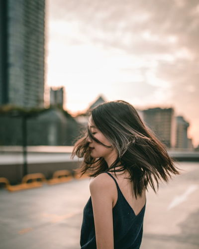 chasing the sun Finding New Frontiers Beautiful People One Woman Only Hair Long Hair Portrait Of A Woman Women Of EyeEm Outdoors Portrait Photography Women Who Inspire You Portrait Of A Girl Wild Carefree Dance Wind Living Bold Run