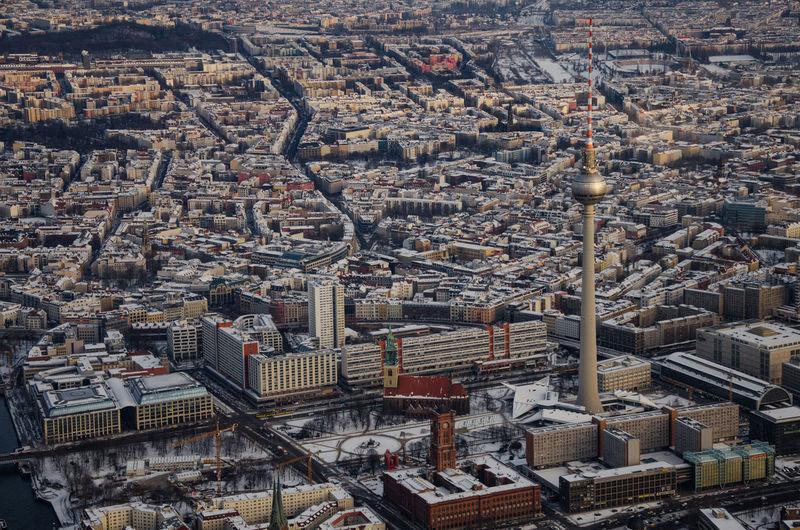 Aerial View Of Berlin In Winter