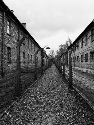 Auschwitz. Poland. Auschwitz  Auschwitz Birkenau Poland Blackandwhite IPhoneography Shot On IPhone Darkness