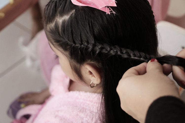 niña peinado