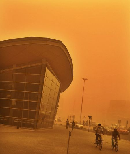 Dubai Sandstorm Poor Visibility Orange The Great Outdoors - 2016 EyeEm Awards