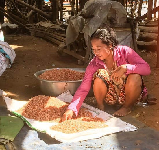 Tonle Sap. Cambodia. Portrait of woman Food Real People Occupation Working Women Village Photography Village Life Travel Photography Cambodia Cambodia Tour Portrait Of A Woman Schrimp