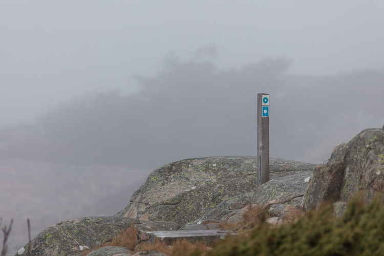 Cold Cold Temperature Day Fog Nature Outdoors Path Pathway Rocks Sea Seaside Sweden Trail Winter
