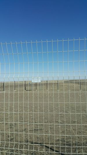 Desert Arid Arid Landscape Arid Climate, Steel Protection Barbed Wire Clear Sky Safety Metal Security Confined Space Chainlink Fence Wire Mesh Security Bar Fence Boundary