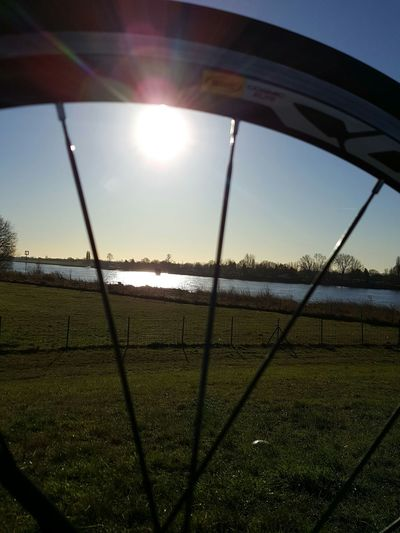 Sport Grass Sky Day Bike And Sun Bikelove Bikelife Bike Sun Sunset Sunlight Tranquility