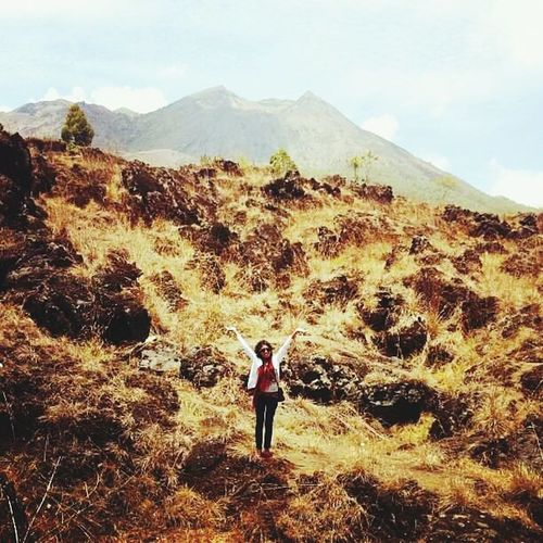 Me Mountain Nature Beauty In Nature Lavatumuli Great View Mountbatur Bali, Indonesia