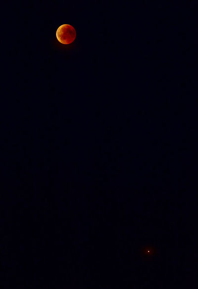 M&M - Moon and Mars, lunar eclipse 2018/07/27 Blood Moon 2018 Lunar Eclipse Mars Nightphotography Astronomy Dark Eclipse Moon Moonlight Nature Night Outdoors Sky Space