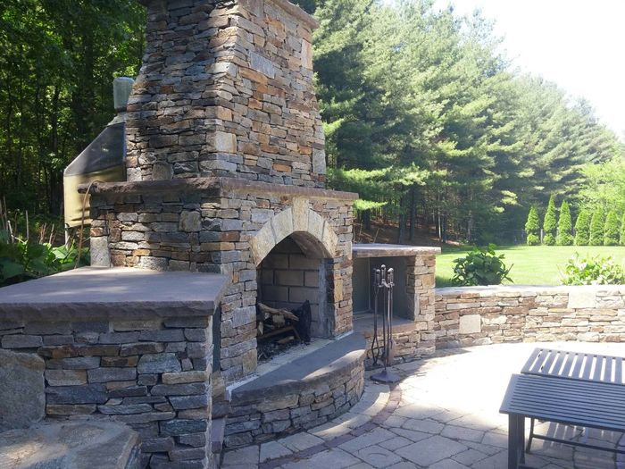 Built Structure Hardscapes Landscape Design Masonry Outdoors Poolside Stone Material