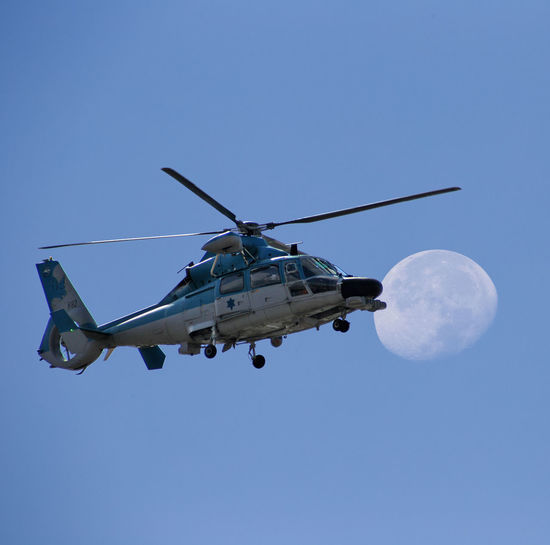 As-565 Blue Flight Helicopter Sky