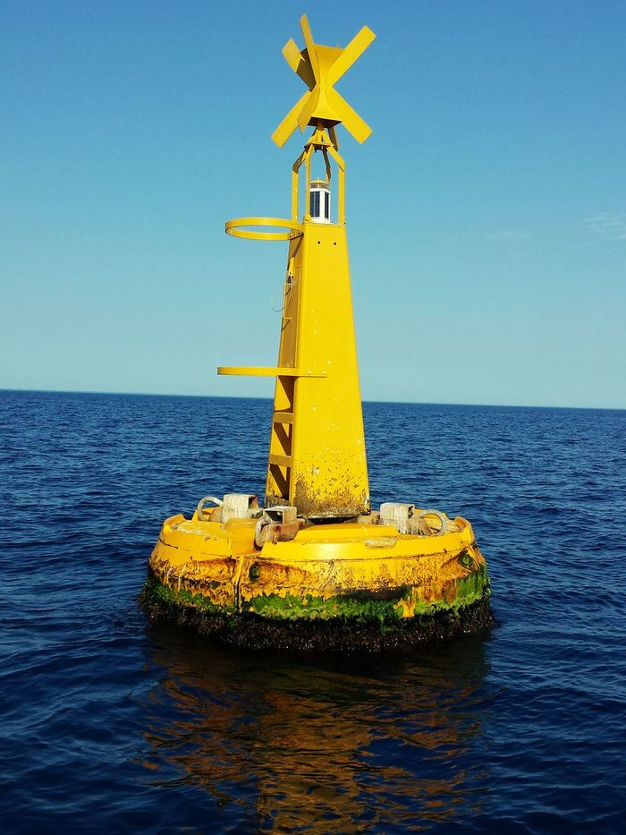Hanging Out Taking Photos Buoy Sea Yellow Sky First Eyeem Photo