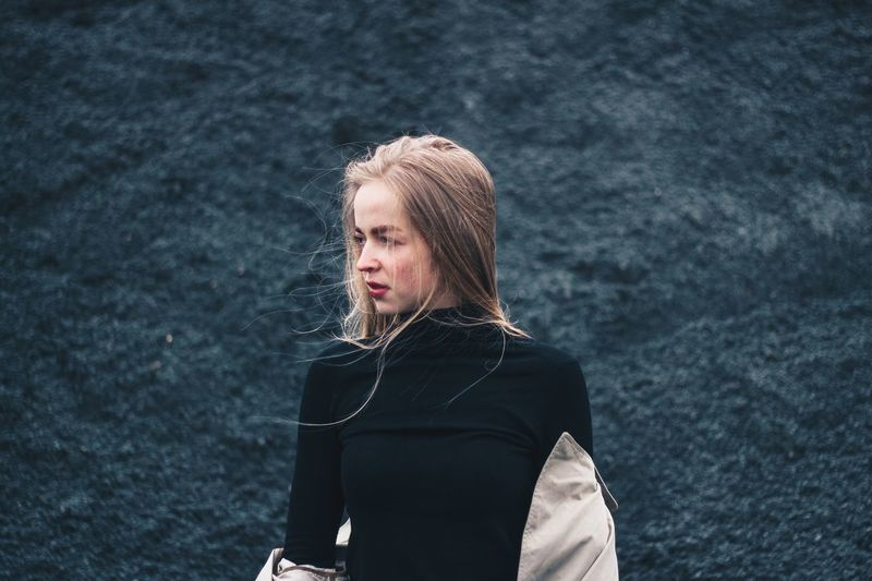 5 мая. The end One Person Lifestyles Real People Looking Water Women Leisure Activity Casual Clothing Clothing Portrait Warm Clothing Young Women Young Adult Waist Up Looking Away Standing Beautiful Woman Nature Day Outdoors