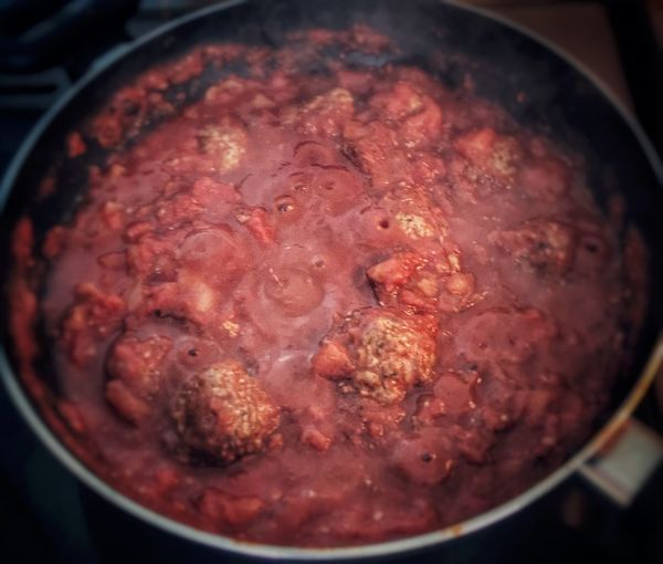 Meatballs Food And Drink Food Cooking Pan Preparation  Freshness Indoors  Close-up Preparing Food No People High Angle View Heat - Temperature Healthy Eating Ready-to-eat