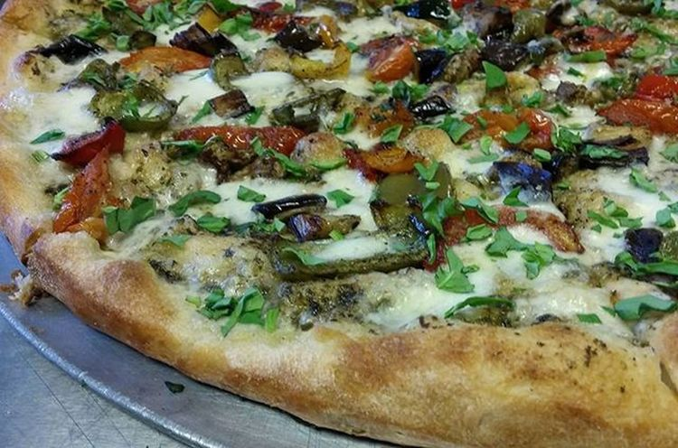 Made a beautiful Roasted Veggie Pie with Pesto and Fresh Mozzarella for lunch. Pizzaporn Foodie Pizza Pizzamaster Foodporn Pizzaboss Pizzagod