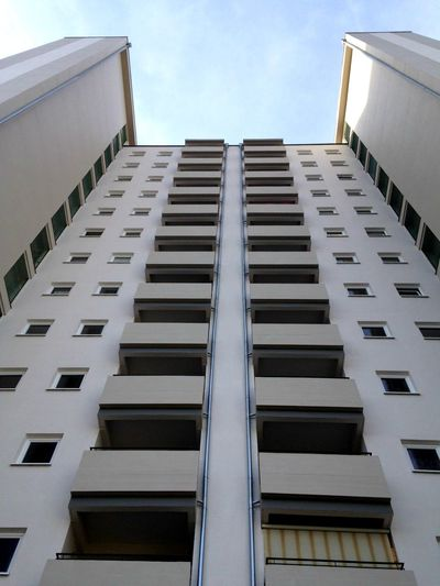 Architecture Balcony Building Building Exterior City Exterior Geometry Low Angle View Modern Residential Structure Skyscraper Symmetry Tall Urban Vertical Symmetry