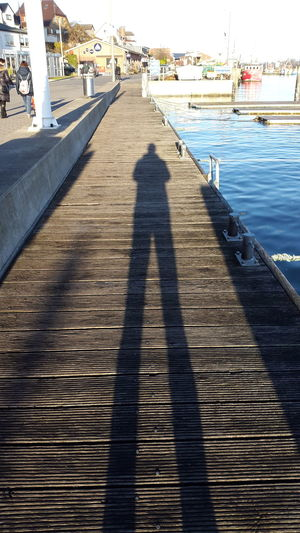 Real People The Way Forward Outdoors Day Men Water One Person People Fishing Port Outside Photography Daylight Habour Kappeln Baltic Sea Sky Shadows & Lights Shadows