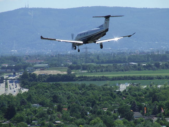 short final 09 Aerial View Day Flying Königstuhl Landscape Mode Of Transport Mountain Nature No People Outdoors Pilatus