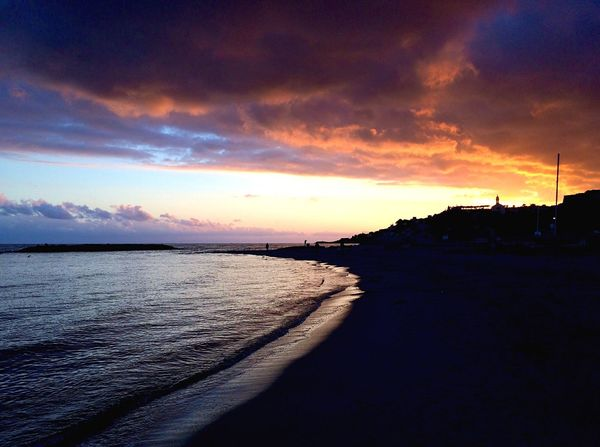 About a sunset! 🏝 Sky Beauty In Nature Water Cloud - Sky Sunset Nature Sea Scenics Tranquil Scene Beach Outdoors Horizon Over Water Day No People Tranquility
