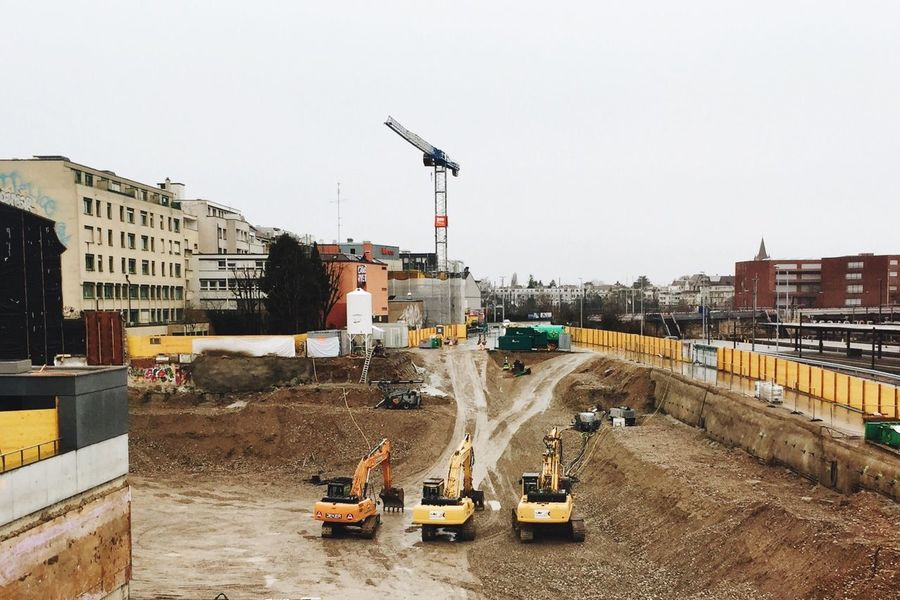 Envision The Future Construction Construction Work Caterpillar Site Building Construction Construction Site Cityscapes City Urban Urban Landscape New And Old From My Point Of View Working Ice Age Beautifully Organized Adapted To The City